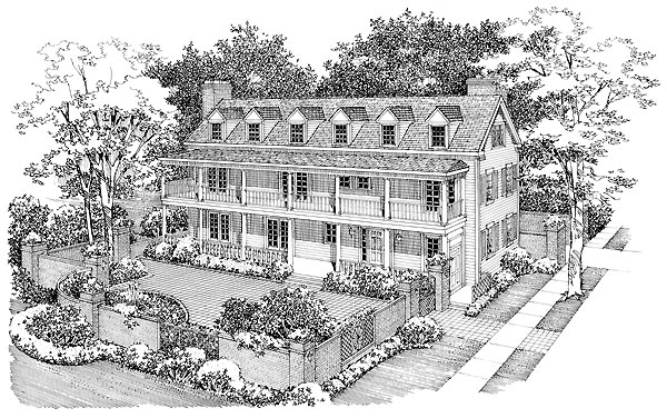 Colonial Country Southern House Plan 95135 Elevation