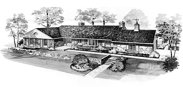 Ranch House Plan 95139 Elevation