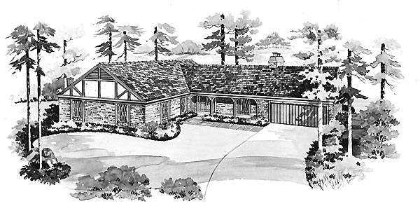 Ranch House Plan 95140 Elevation