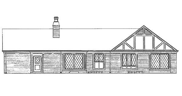 Ranch House Plan 95140 Rear Elevation