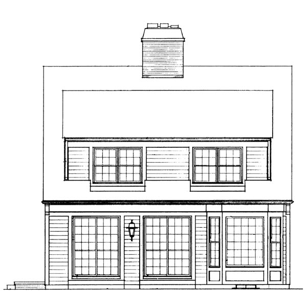 Bungalow House Plan 95141 Rear Elevation