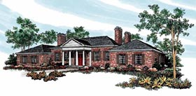 Colonial House Plan 95143 Elevation