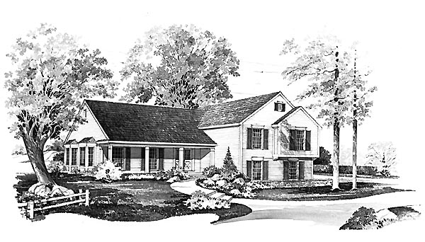 Country House Plan 95148 Elevation