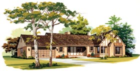 Ranch House Plan 95152 Elevation