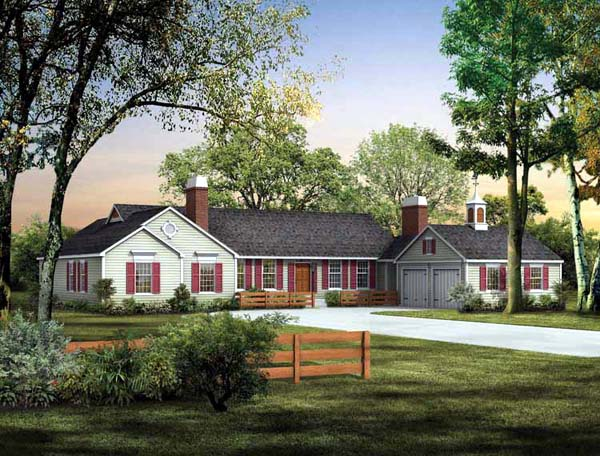 Ranch House Plan 95158 Elevation
