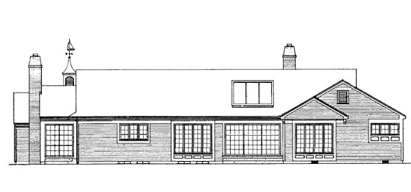 Ranch House Plan 95158 Rear Elevation