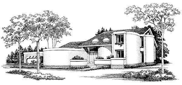 Contemporary House Plan 95160 Elevation