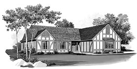 Ranch House Plan 95161 Elevation