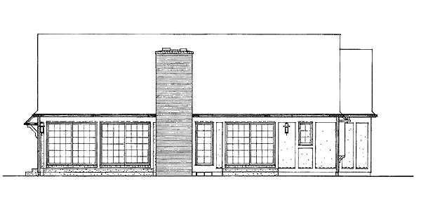 Ranch House Plan 95161 Rear Elevation