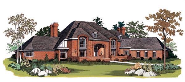 European House Plan 95162 Elevation