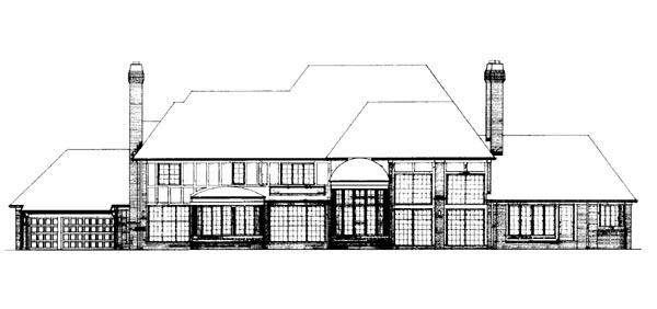 European House Plan 95162 Rear Elevation