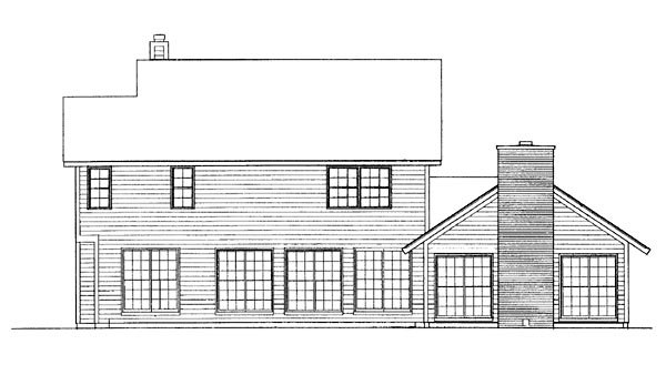 Country Farmhouse House Plan 95164 Rear Elevation