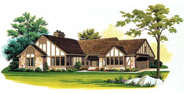 House Plan 95168 | Ranch Style Plan with 2112 Sq Ft, 2 Bedrooms, 3 Bathrooms, 2 Car Garage Elevation