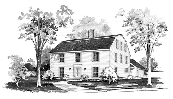 Colonial House Plan 95170 Elevation