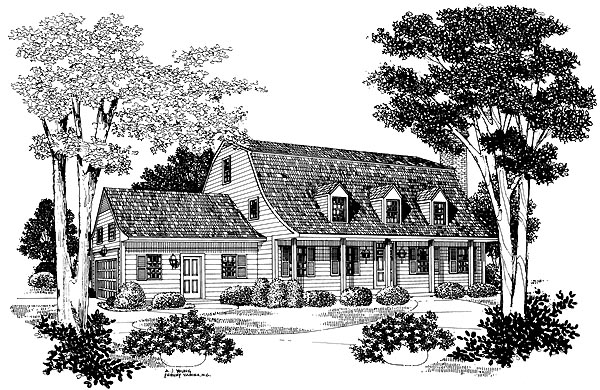 Colonial Country House Plan 95171 Elevation