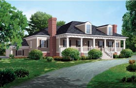 Colonial Country House Plan 95172 Elevation