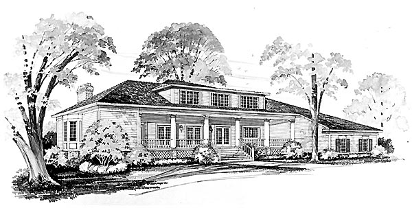 Colonial Country House Plan 95172 Rear Elevation