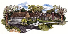 Ranch House Plan 95173 Elevation