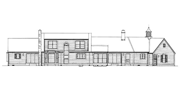 Ranch House Plan 95173 Rear Elevation