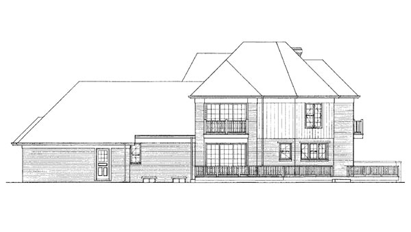 Contemporary House Plan 95177 Rear Elevation
