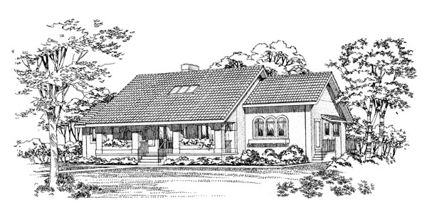 Ranch Elevation of Plan 95180