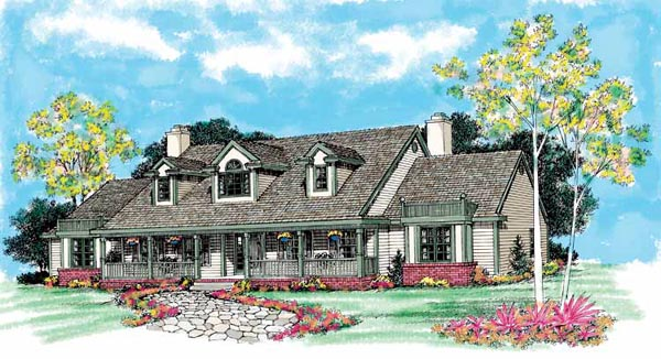Country House Plan 95181 Elevation