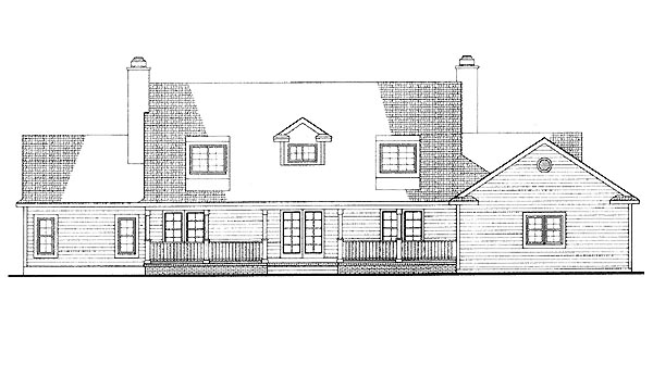 Country House Plan 95181 Rear Elevation
