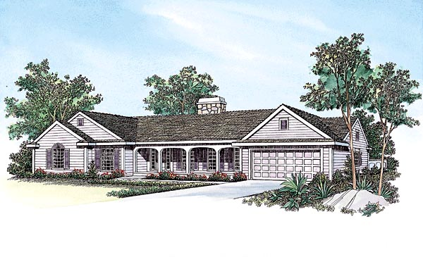 Ranch House Plan 95183 Elevation