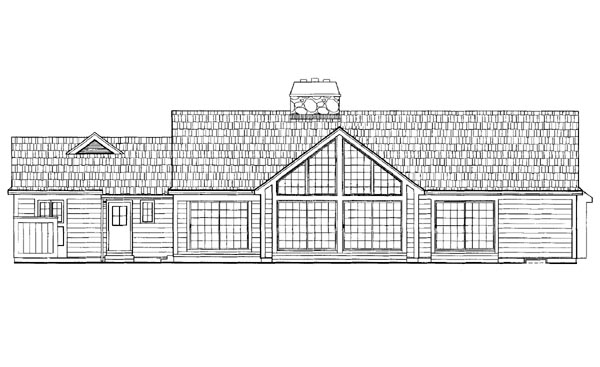 Ranch House Plan 95183 Rear Elevation