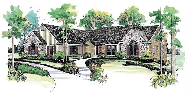 Ranch House Plan 95185 Elevation