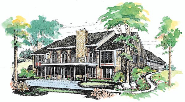 Ranch House Plan 95185 Rear Elevation