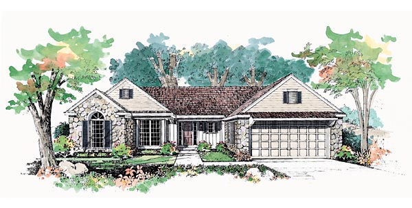 Ranch , Elevation of Plan 95189