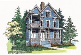 Country , Southern House Plan 95191 with 3 Beds, 4 Baths Elevation
