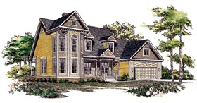 House Plan 95192 | Country Style Plan with 2522 Sq Ft, 3 Bedrooms, 3 Bathrooms, 2 Car Garage Elevation