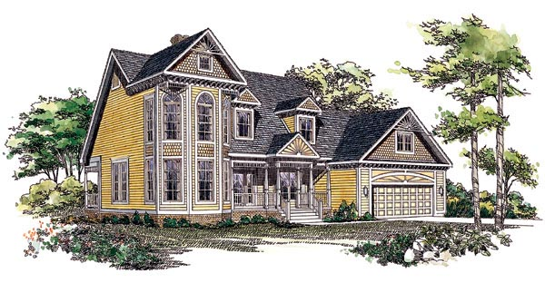 Country House Plan 95192 Elevation