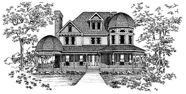 Victorian House Plan 95193 Elevation