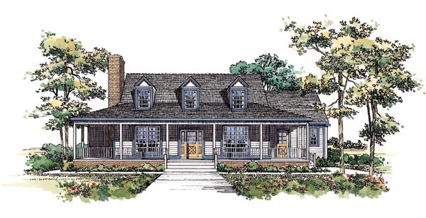 Country House Plan 95194 Elevation