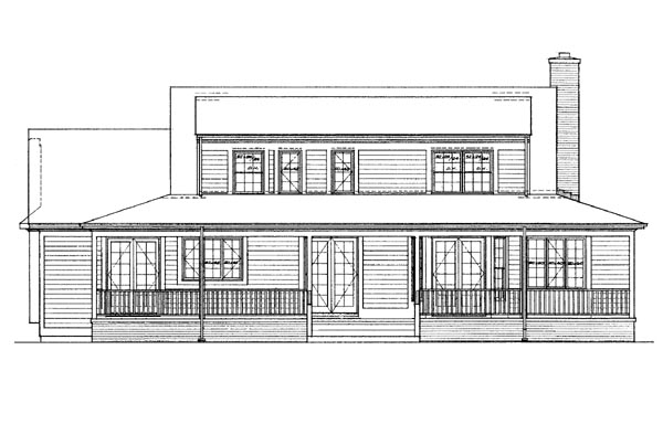 Country House Plan 95194 Rear Elevation