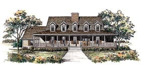 Country House Plan 95195 with 4 Beds, 4 Baths, 3 Car Garage Elevation