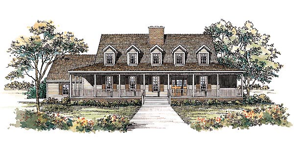 Country House Plan 95195 Elevation