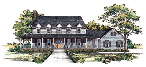 Country House Plan 95196 Elevation