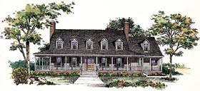 Country House Plan 95197 Elevation