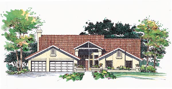 Mediterranean House Plan 95200 Elevation