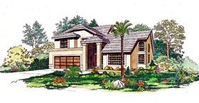 Contemporary Mediterranean House Plan 95201 Elevation