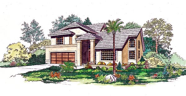 Contemporary Mediterranean House Plan 95201 Elevation