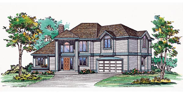 Contemporary House Plan 95202 Elevation