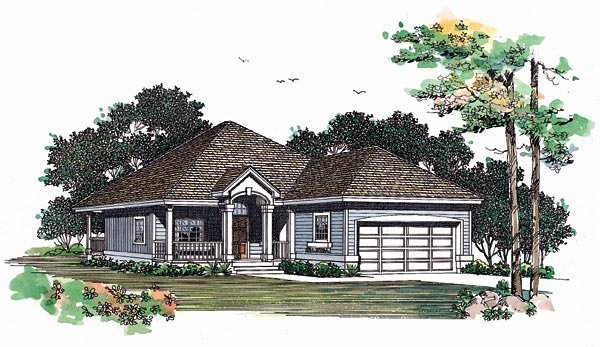 Traditional House Plan 95203 Elevation