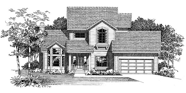 Contemporary Country House Plan 95204 Elevation