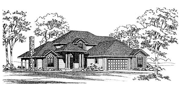 Traditional House Plan 95205 Elevation