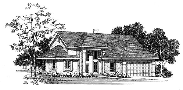 Contemporary House Plan 95206 Elevation